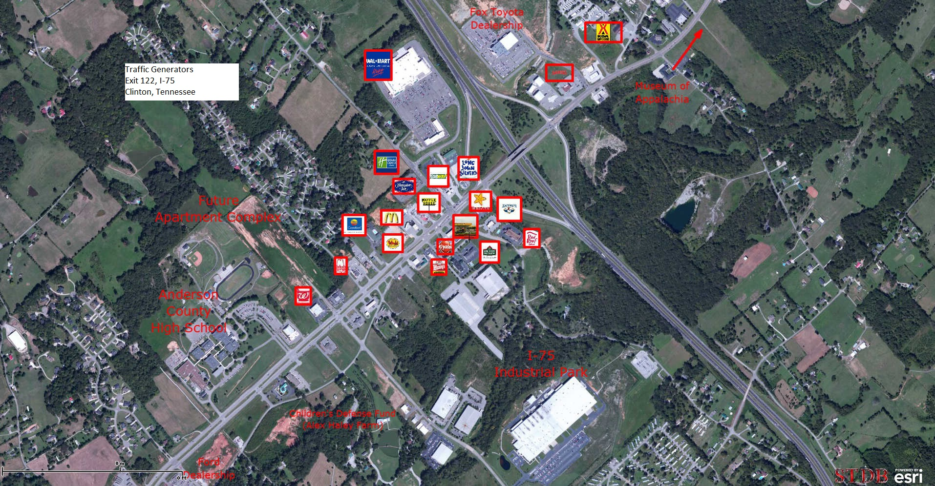 I 75 Traffic Map.Anderson County Retail Commercial Development Clinton At I 75